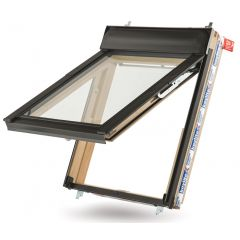 Keylite Pine Hi-Therm Top Hung Roof Window 550x980mm